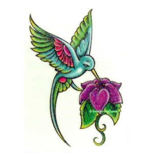 Hummingbird Tattoo Design Sketch