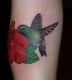 Beautiful Hummingbird Inked In Memory Of Deceased Brother
