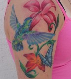 Hummingbird Tattoos Are Fast Fliers On Shoulder