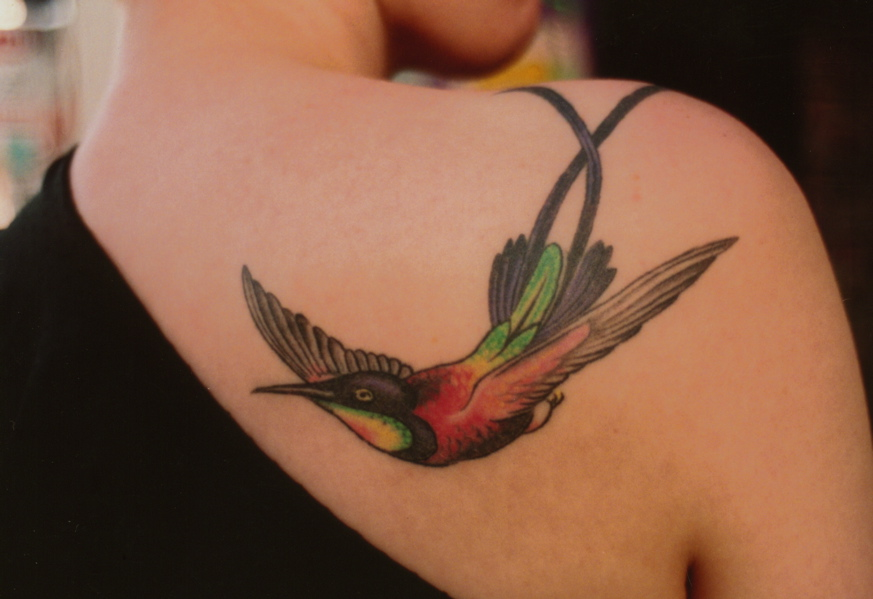 Amazing Cute Small Tattoo of Hummingbird