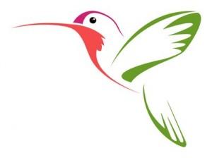 Amazing Hummingbird Tattoo Sketch Design