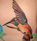 Remarkable Hummingbird Tattoo Design