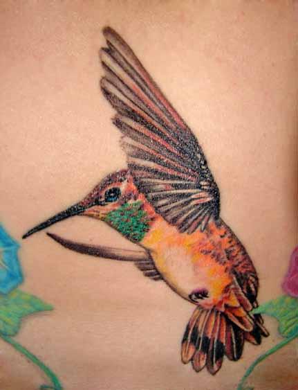 Remarkable Hummingbird Tattoo Design