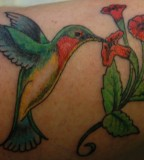 Fantastic Hummingbird Tattoo Design