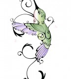 Hummingbird Sketch Tattoo Design
