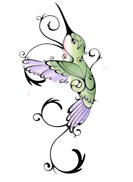 Hummingbird Sketch Tattoo Design