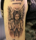 Endearing In Loving Memory Angel Tattoo Design Pic