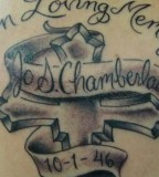 Lovely Chamberlain In Loving Memory Tattoo Design Picture