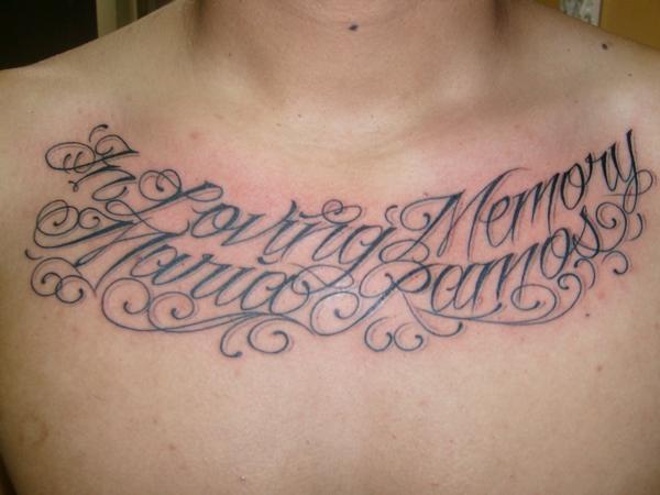 In Loving Memory Maria Ramos Tattoo Design Photo
