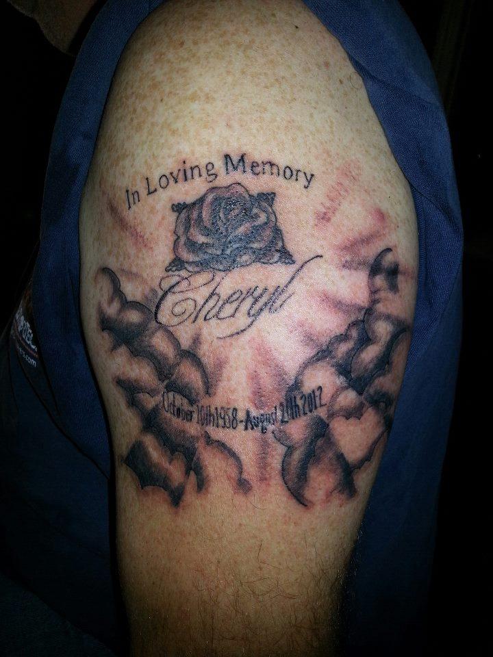 Amazing In Loving Memory Tattoo Design on Arm