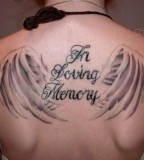 Sweet In Loving Memory Girls Tattoo on Back