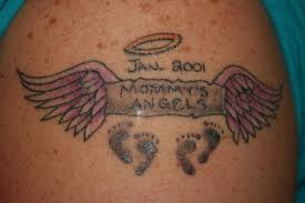 Small Mommys Angels In Loving Memory Tattoo Picture