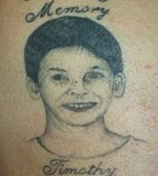 Timothy In Loving Memory Tattoo Design Picture