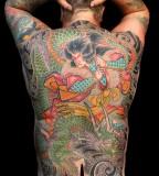 Back Piece Japanese Dragon Tattoos