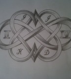 Beautiful Hearts and Infinity Sign Tattoo Design Sketch on Deviantart