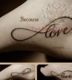 Cool Infinity and Love Sign Themed Tattoo Design