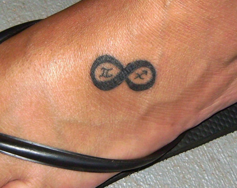 Small Simple Themed Infinity Sign Tattoo Meaning on Foot
