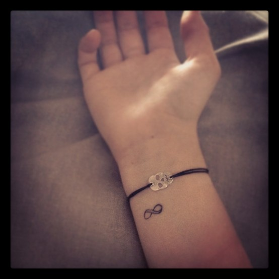 Wrist Tattoologist Infinity Sign Themed Tattoo Design Picture