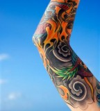 Beautiful Painful Inner Arm Tattoo Design for Men