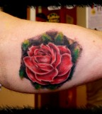 Rose Inner Arm Tattoo Design