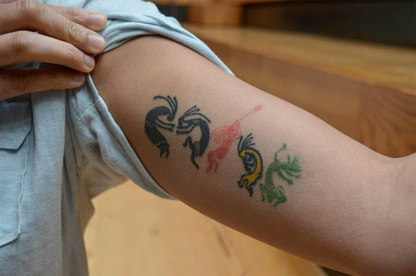Cute Inner Arm Tattoo Design