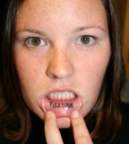 25 Terrific Inner Lip Tattoo