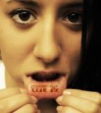 Fabulous Lip Tattoo Design Idea