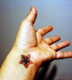 Inner Wrist Star Tattoo Designs
