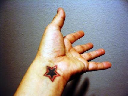 Inner Wrist Star Tattoo Designs