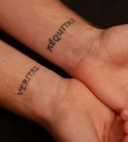 Couple Inner Wrist Tattoos