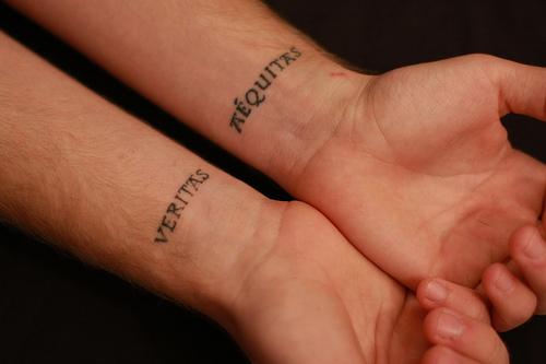Couple Inner Wrist Tattoos