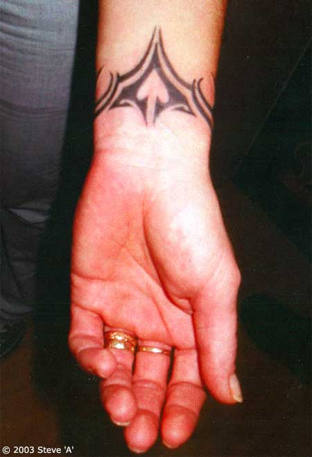Tribal Inner Wrist Tattoo Ideas For Men