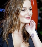 Leighton Meester Wrist Tattoo
