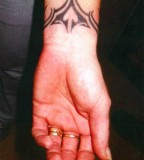 Dashing Tribal Innerwrist Tattoo