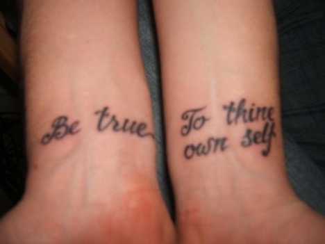 Quote Wrist Tattoo for Men and Women