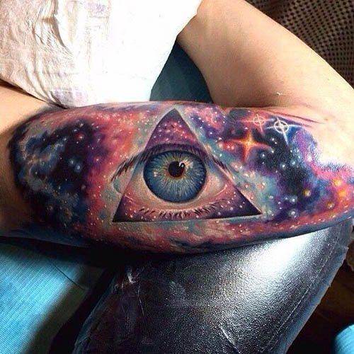intergalactic eye tattoo