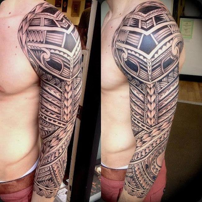 intricate islander tribal tattoo