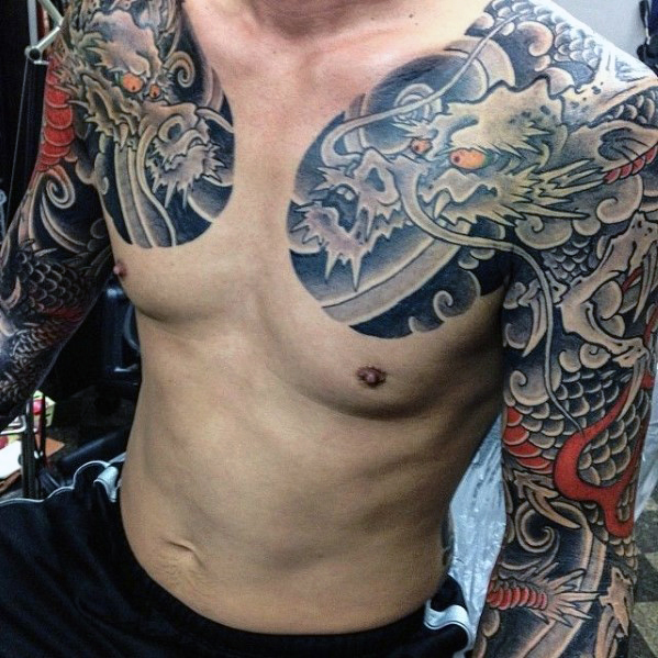 japanese dragon tattoos for men