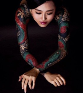 japanese-style-sleeve-tattoo