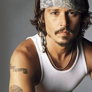 Johnny Depp Arm Tattoos Design Style