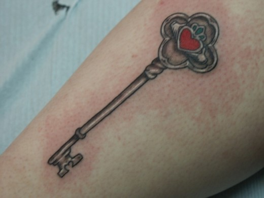 Old Fashioned Key Tattoo for Men