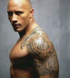 Awesome WWE The Rock Key Tattoos Design for Men