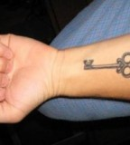 Cool Key Tattoo Designs for Men Fashions