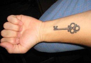 Cool Key Tattoo Designs for Men Fashions