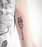 Amazing Owl Key Tattoos for Men