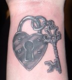 Body Art Couple Key And Lock Tattoos for Men
