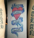 Cute Kids Name Tattoo Design on Forearm