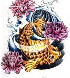 Koi Fish Tattoo Feminine