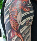 Koi Fish Tattoos on Sleeve