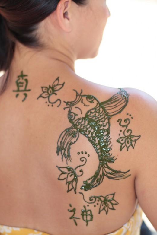 Religious Henna Tattoo Koi Fish Tattoos